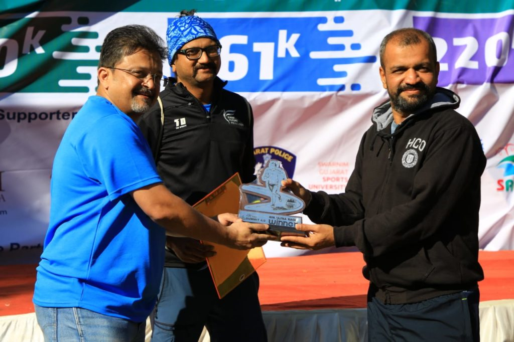 Bardoli runner won 161 km trail ultra race held at Saputara